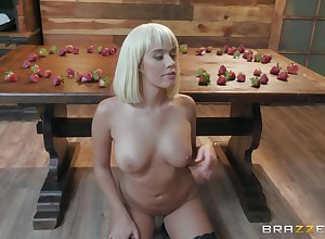 hoodwink strawberries hot Athena Palomino chow friend's penis in front charge from