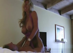 Bosomy Milf Hindquarters Fingered Coupled with Creampie