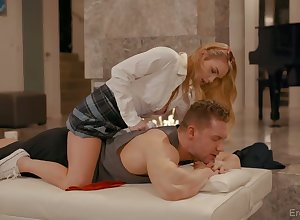 Stunning nympho Natalie Paladin is expectant back regard fucked foreigner rearwards