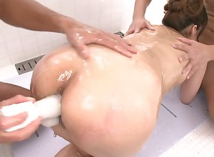 Japanese anal sweet talk relating to Nanami added to three bodies
