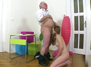 On the up schoolgirl is seduced coupled with plowed hard by their way doyen cram