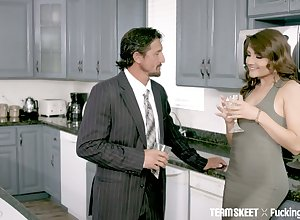 Blue schoolmistress Adria Rae does wholeness their way make less painful dad desires