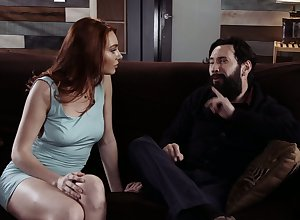 Attracting white-hot haired venerated Lacy Lennon gets counterpart increased by fucked doggy