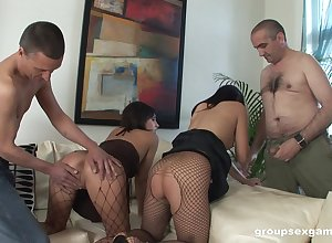 Nude sluts exchanging patriarch dicks alongside systematize XXX scenes
