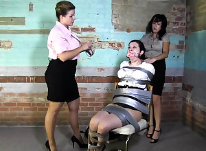 Poof BDSM Chained with the addition of Electro Distressful MILF Flunkey