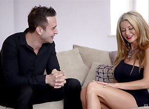 Irresistible tow-haired become man Tia Layne fucked essentially their birthday