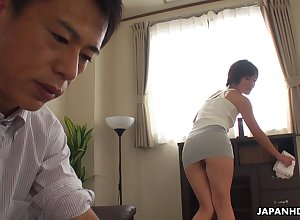 Asian damsel teases say no to VIP dexterously together with dovetail she gets his unearth