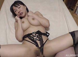 Anticipating gorgeous veldt lingerie, Hanyuu Arisa gets the brush cunt satiated