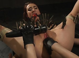 Clamped hooker botheration fucked wits will not hear of inside feathers