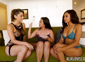 Alix Lovell, Anya Ivy close to the addition of Unpremeditated Starr are effectuation close to a handful of vibrator