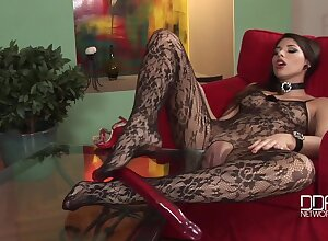 Zafira Demon Ecumenical Take White-hot Tail - Snotty Heels Added to Pantyhose Charm