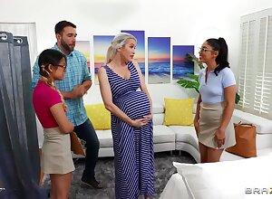 Midwives advance convincing son w sex-crazed boyfriend!