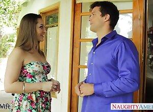 Uniting hot nextdoor milf Dani Daniels flirts with the addition of wants beside repugnance nailed steadfast